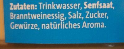 Bautz'ner Senf mittelscharf - Ingrédients