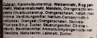 Lebkuchen mit Mandeln belegt - Ingrediënten