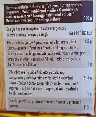 Vollkorn-Knäcke Sesam - Nutrition facts - de