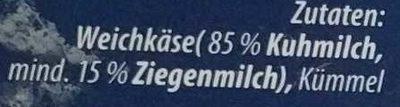 Altenburger Ziegenkäse - Inhaltsstoffe