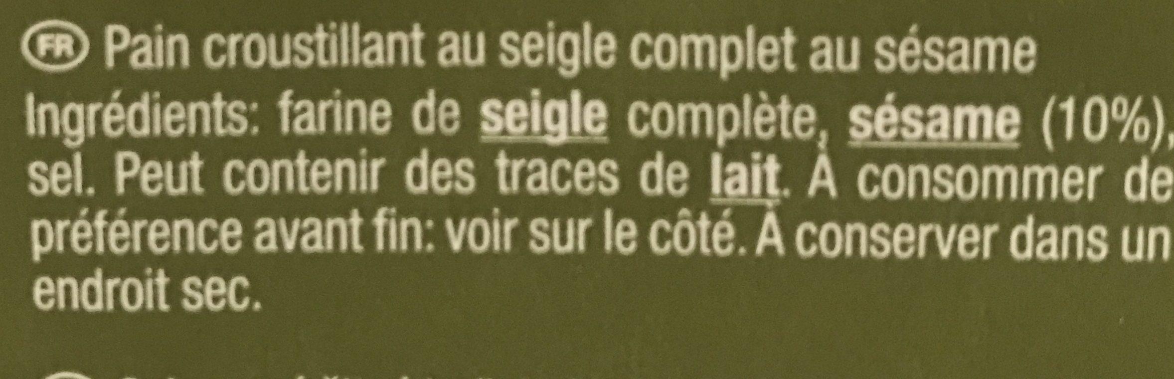 Sesam - Ingrédients - fr