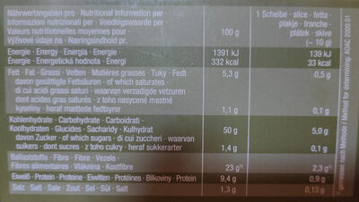 Burger Bio Sesam - Nutrition facts - de