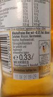 Alkoholfreies Bier - Inhaltsstoffe - de