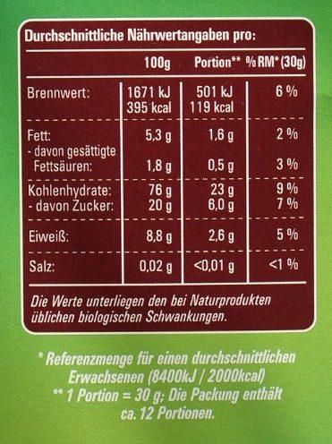 Choco Monkeys - Nutrition facts - de