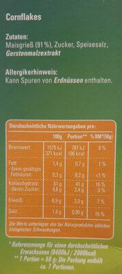 Crisp und Cross Cornflakes - Složení - de