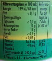 ACE-Power Orange & Karotte - Nutrition facts - de