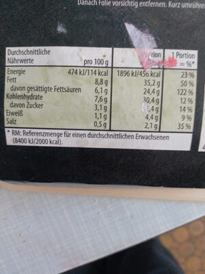 Möhren-Ingwersuppe - Informations nutritionnelles - de