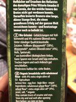 Grissini Vollkorn mit olivenöl - Ingrédients - fr