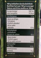 Grissini Vollkorn mit olivenöl - Informations nutritionnelles - de