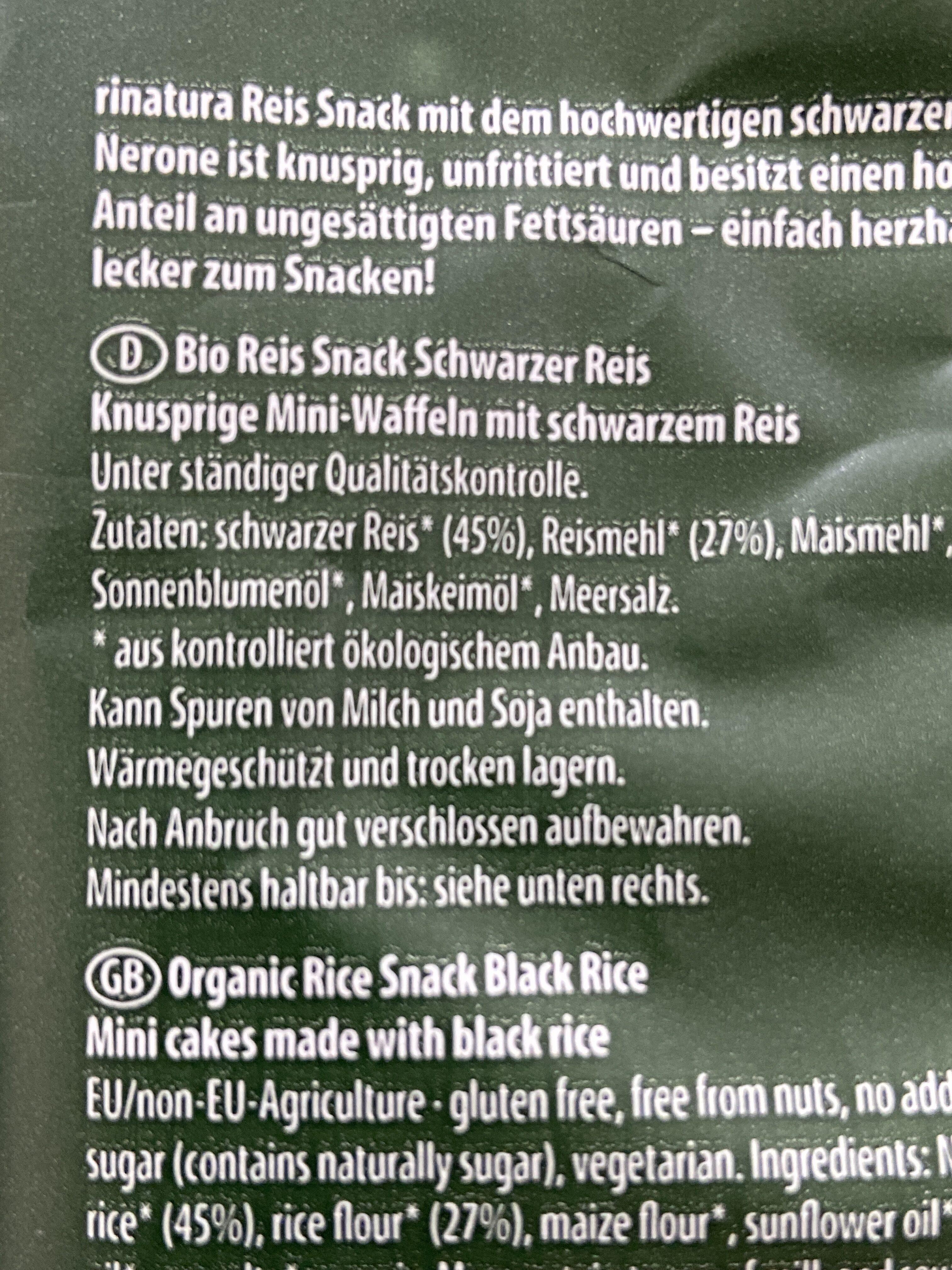 Reis Snack - Ingrédients - de