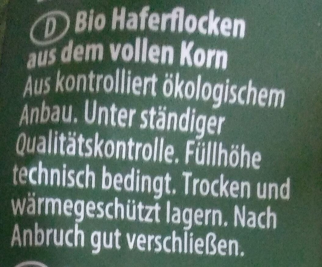 Haferflocken - Ingredients - de