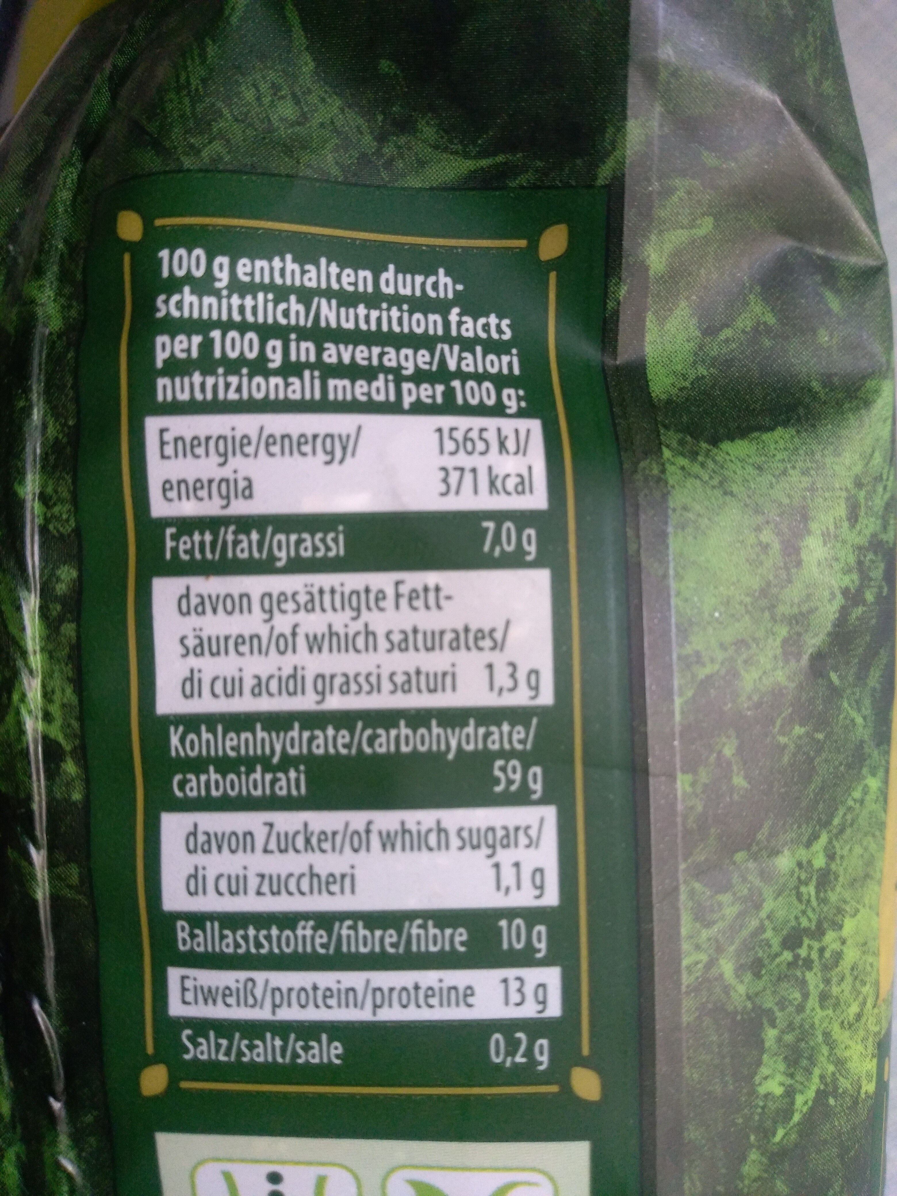 Haferflocken - Nutrition facts - de