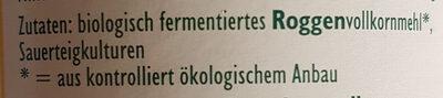 Vollkorn-Sauerteig - Levain complet - Ingredients - de