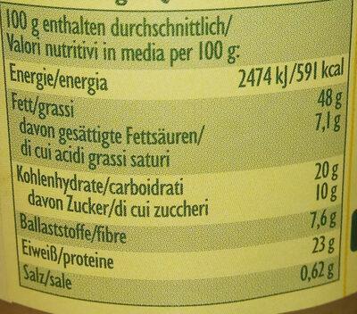 Erdnuss Creme - Nutrition facts