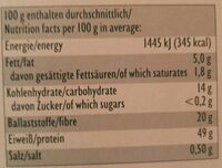 Würz-Hefeflocken fein - Nährwertangaben - de