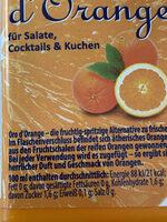 Oro d'Orange - Valori nutrizionali - de