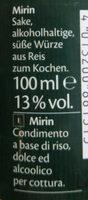 Mirin - Ingredients - de