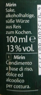 Mirin - Ingredients