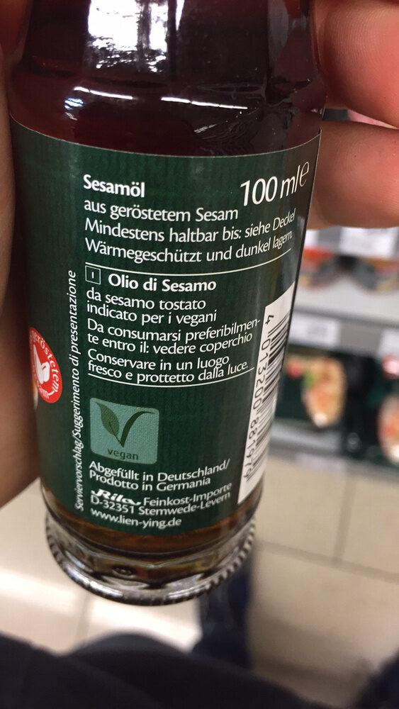 Lien Ying huile de sésame - Ingrédients - fr