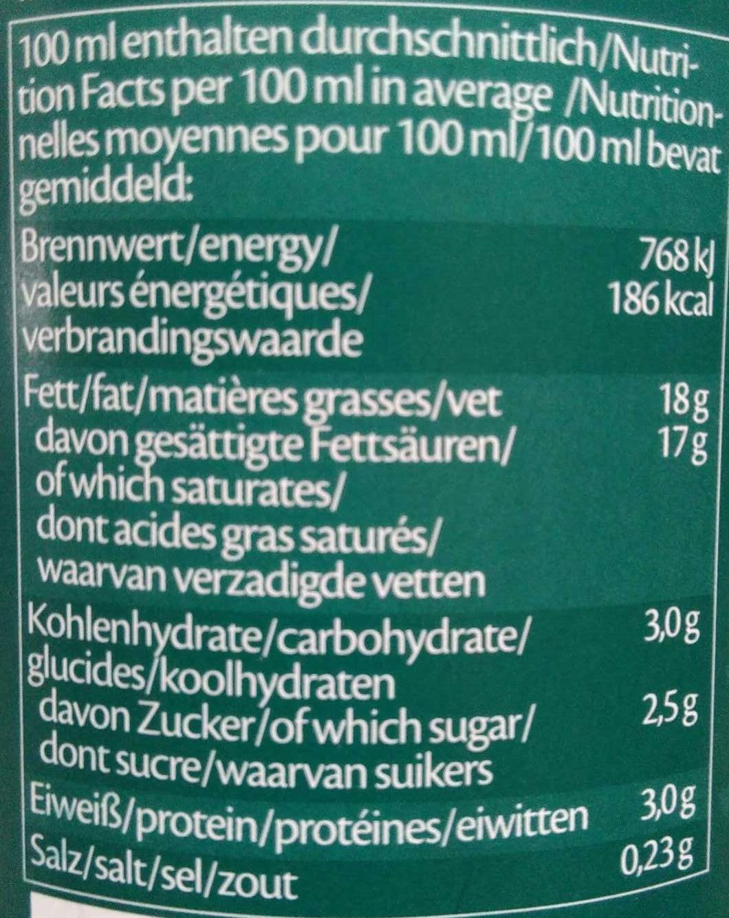 Creola de Coco - Informations nutritionnelles - de