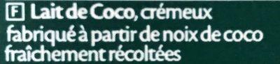 Creola de Coco - Ingrédients - fr