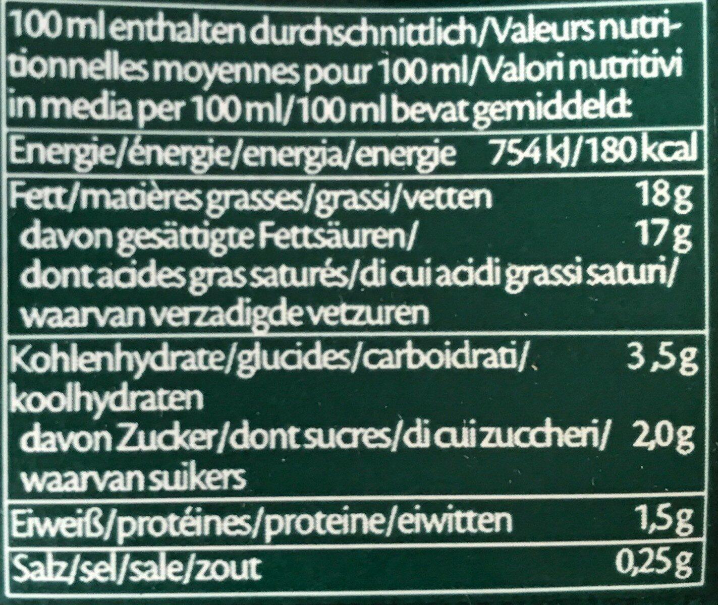 Creola de Coco - Informations nutritionnelles - fr