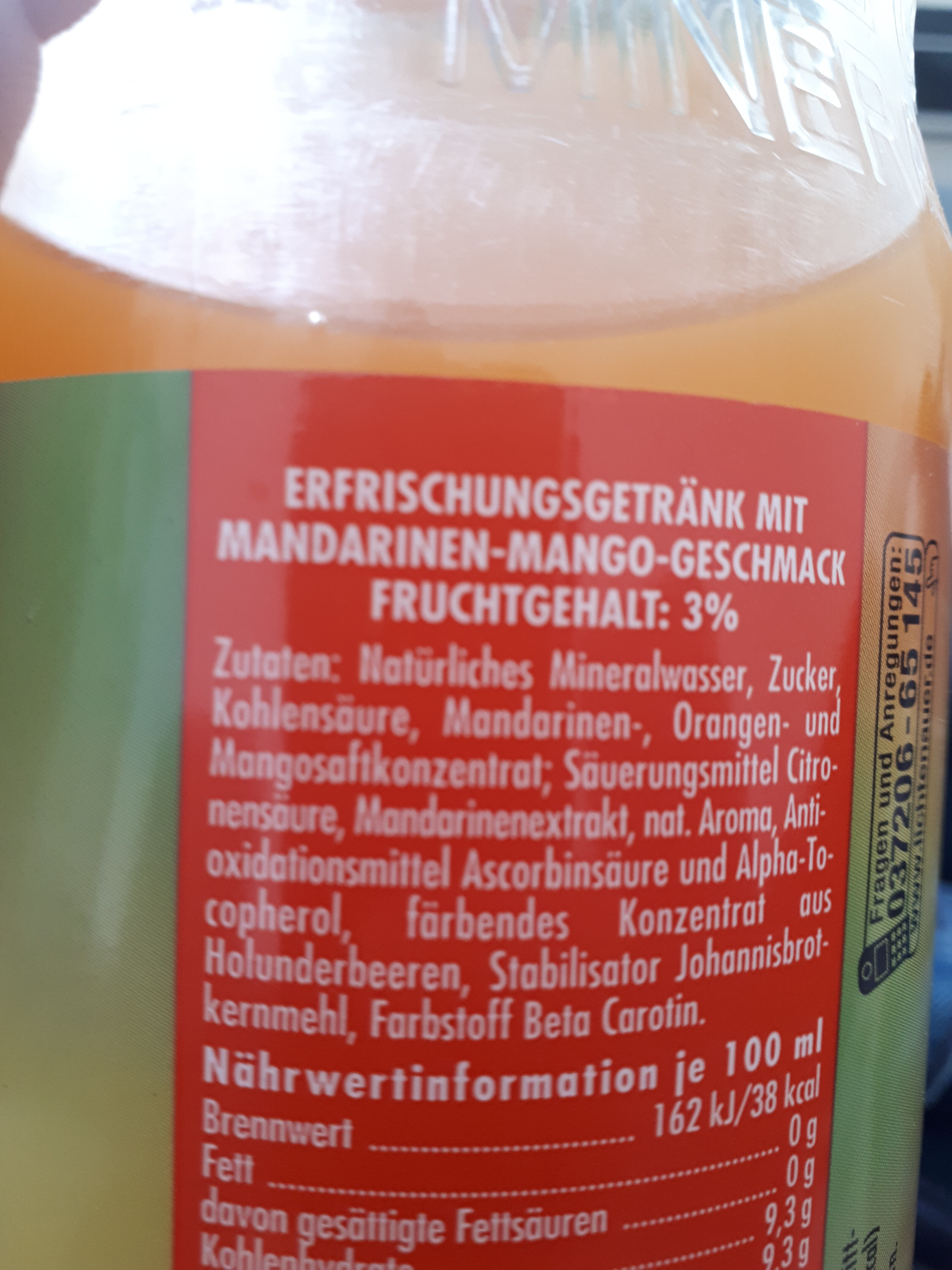 Mandarine Mango - Ingredienti - de