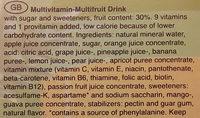 Glocken Gold Multivitamin Fruktdryck - Ingredients