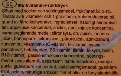 Glocken Gold Multivitamin Fruktdryck - Ingrédients