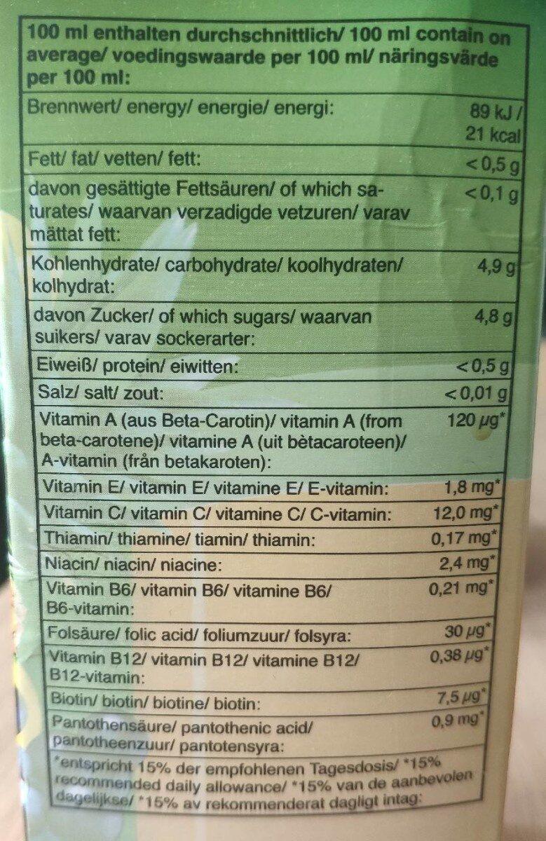 Multivitamin Fruktdryck - Informations nutritionnelles - sv