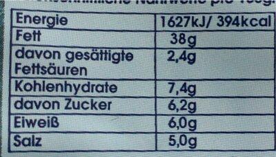 Kaviar Creme aus Heringsrogen mit feiner Knoblauch-Note - Nährwertangaben - de