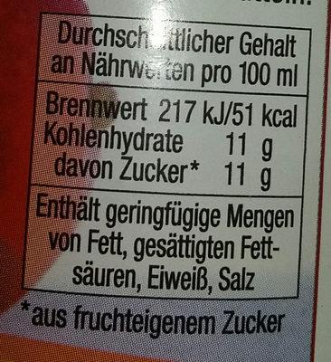 Satower Apfel-Mango-Saft - Voedingswaarden - de