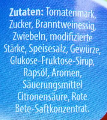 Schaschlik Sauce - Inhaltsstoffe