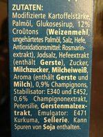 Heiße Tasse Champignon-Creme - Inhaltsstoffe