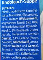 Heisse Tasse knoblauch - Ingredients - fr
