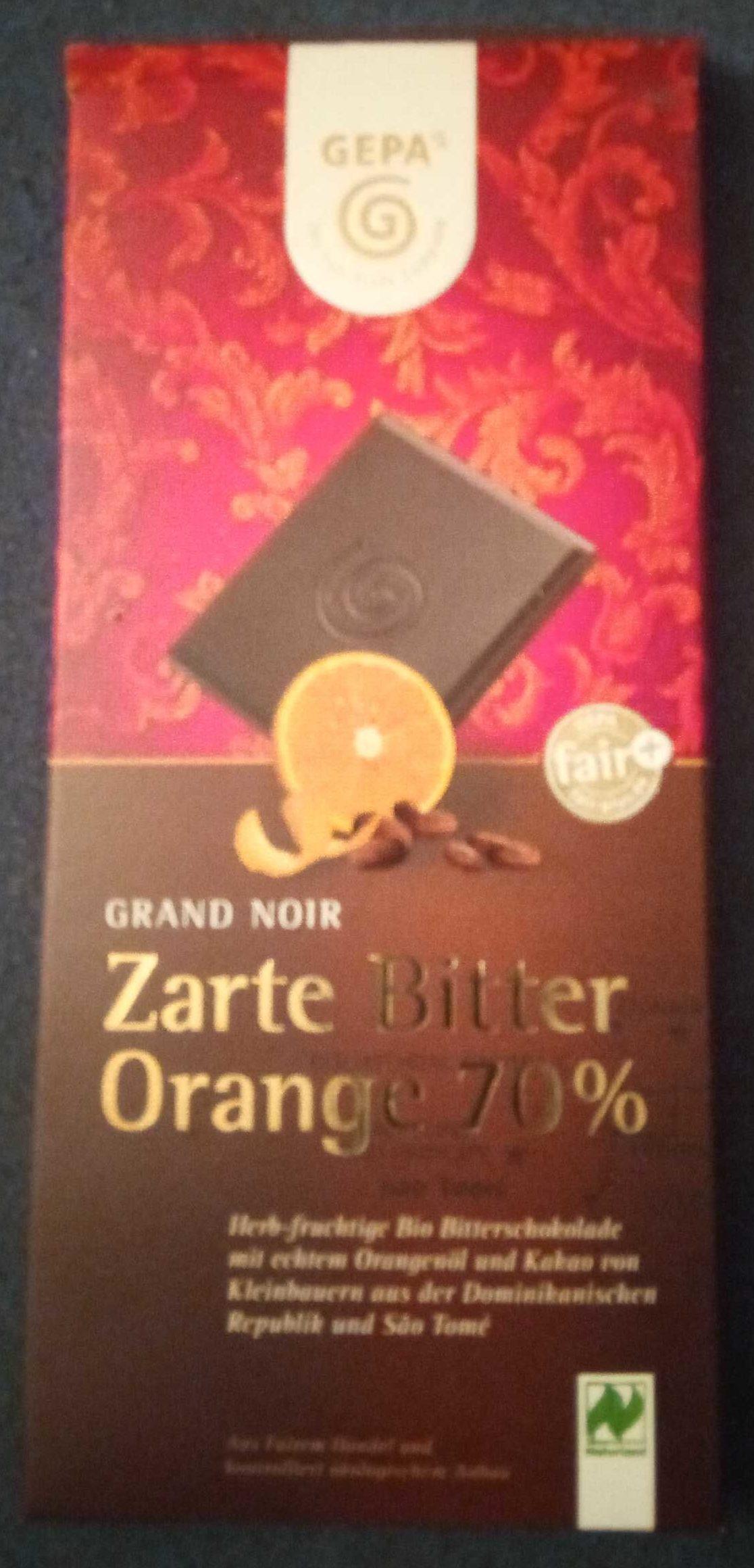 Zarte Bitter Orange 70% - Product