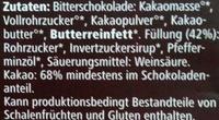 Zarte Bitter Minze - Ingredients