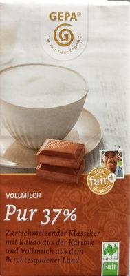 Vollmilch Pur 37% - Produit