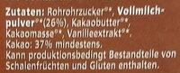Vollmilch Pur 37% - Ingrédients
