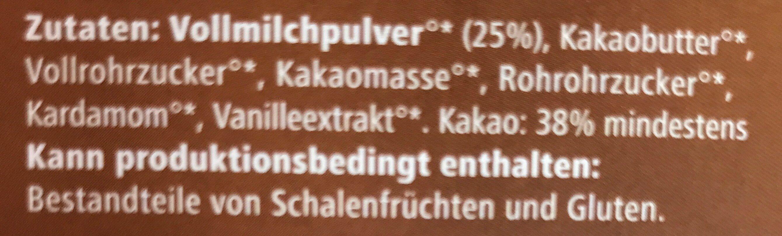 Grand chocolat cardamon - Ingredients