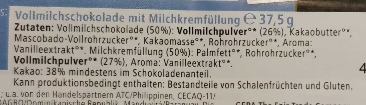 Milk & Creamy Kids - Ingredienti - de