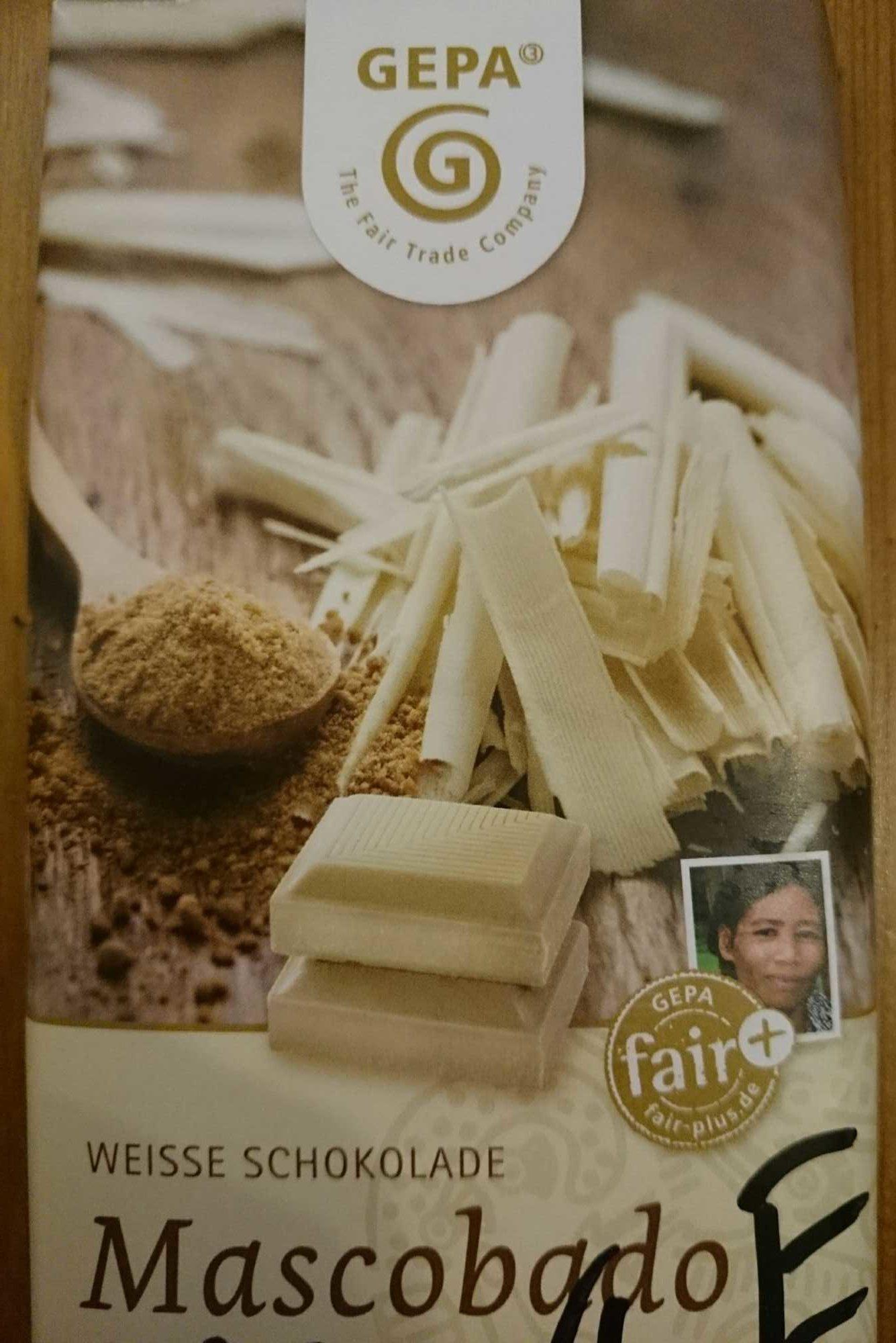 Mascobardo Weiße Schokolade - Product