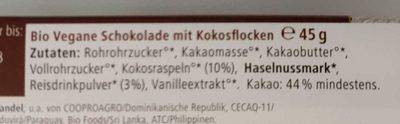 Fairetta Coco & Rice - Inhaltsstoffe