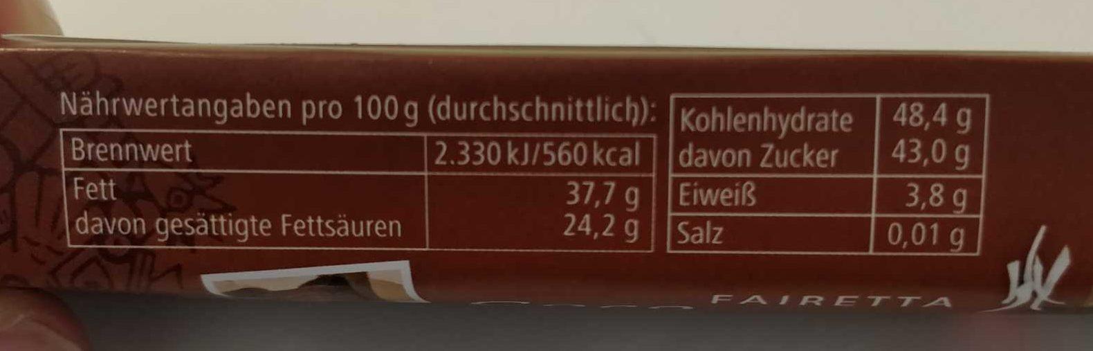 Fairetta Coco & Rice - Nährwertangaben