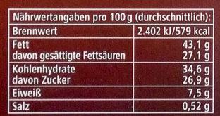 Fleur de Sel Noir - Nutrition facts - de