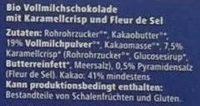 Bio Chocolat Salty Caramel - Ingredients