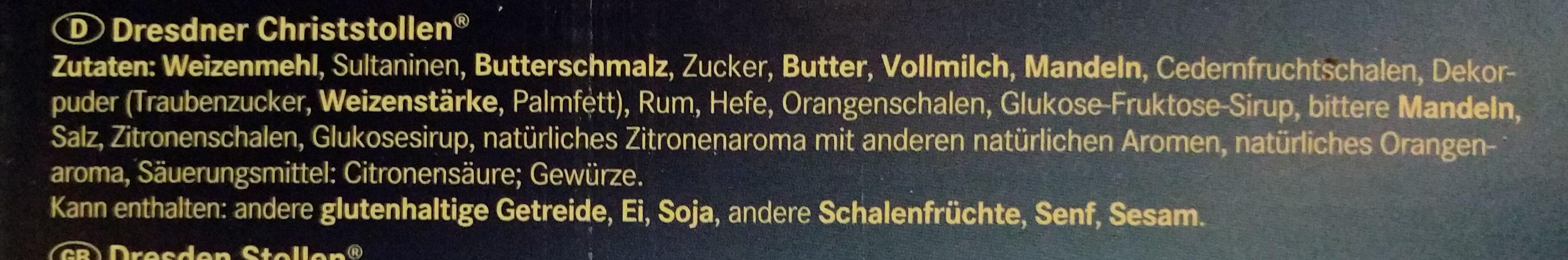 Christstollen - Ingredients - de