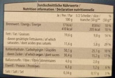 Christstollen - Nutrition facts - de