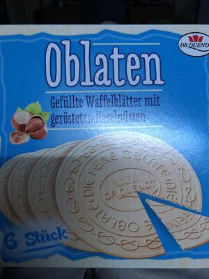 Oblaten mit Haselnüssen - Produit - fr