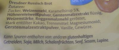 Dresdner Russisch Brot Original - Ingrédients - de